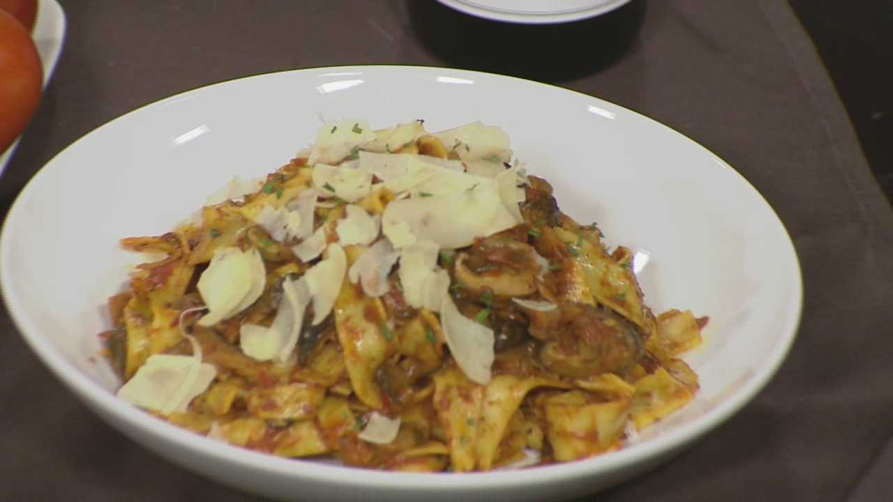 Learn how to make this tasty pasta dish with mushrooms, roasted tomato, truffle butter and shaved Parmesan with Scott from Canoe Restaurant and Tavern.