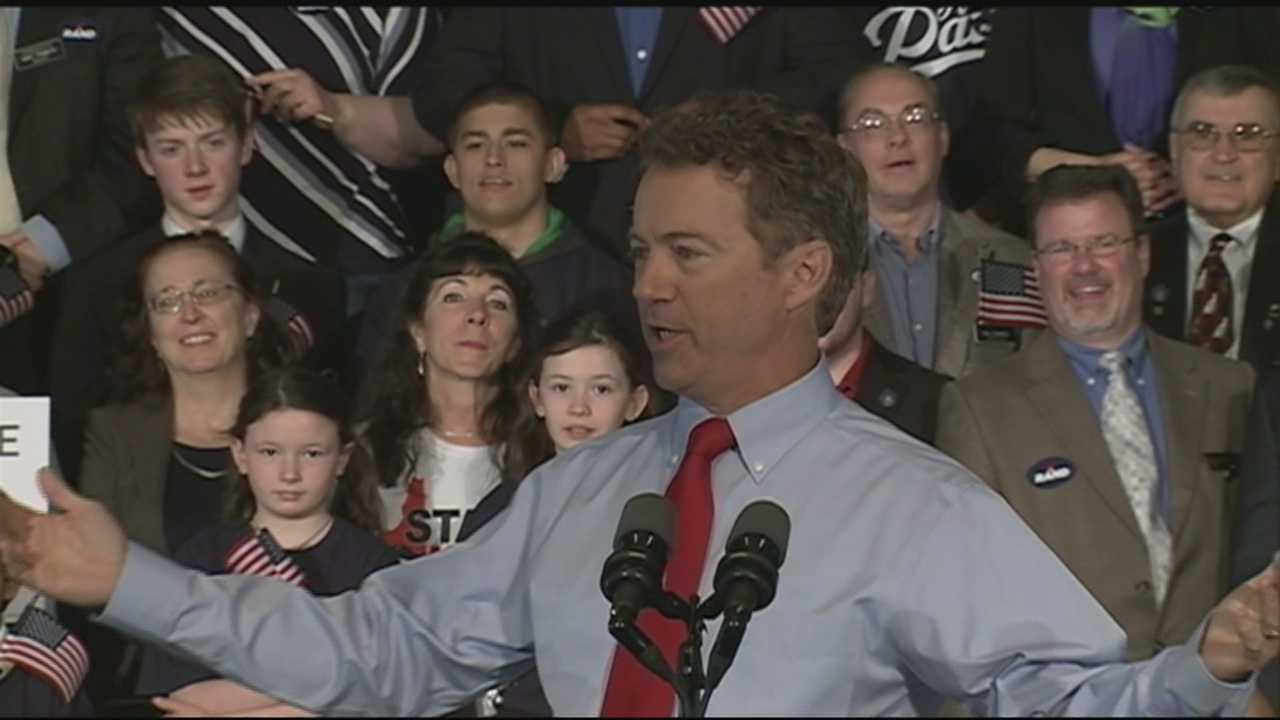 One day after making his presidential candidacy official, Kentucky Sen. Rand Paul held a rally in New Hampshire.