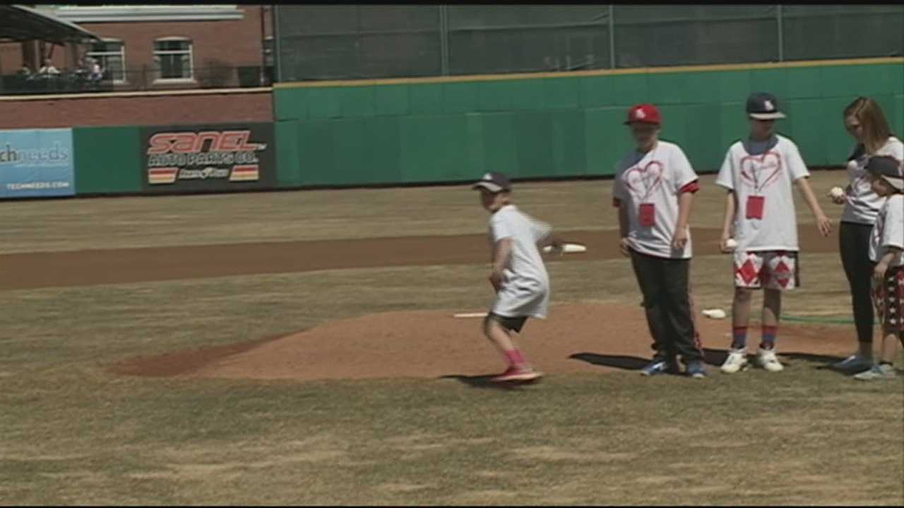 A Derry family dealing with a tragic loss got the opportunity to throw out the first pitch at a New Hampshire Fisher Cats game Sunday.