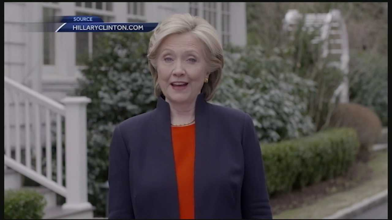 Former Secretary of State Hillary Clinton announced Sunday afternoon that she would be running for President in 2016.
