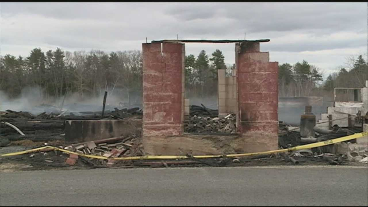 A fire destroyed a historic barn in Brentwood early Saturday morning.