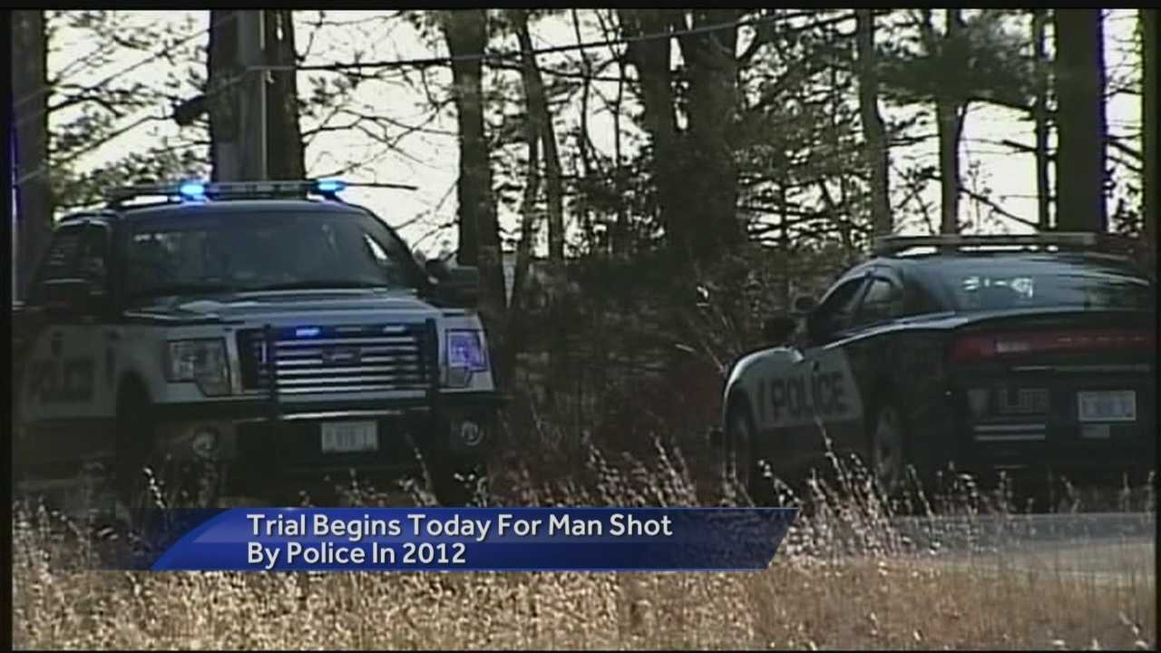 The trial of a Lee man who was shot by police after he allegedly threatened his wife and officers in December 2012 is scheduled to start today.
