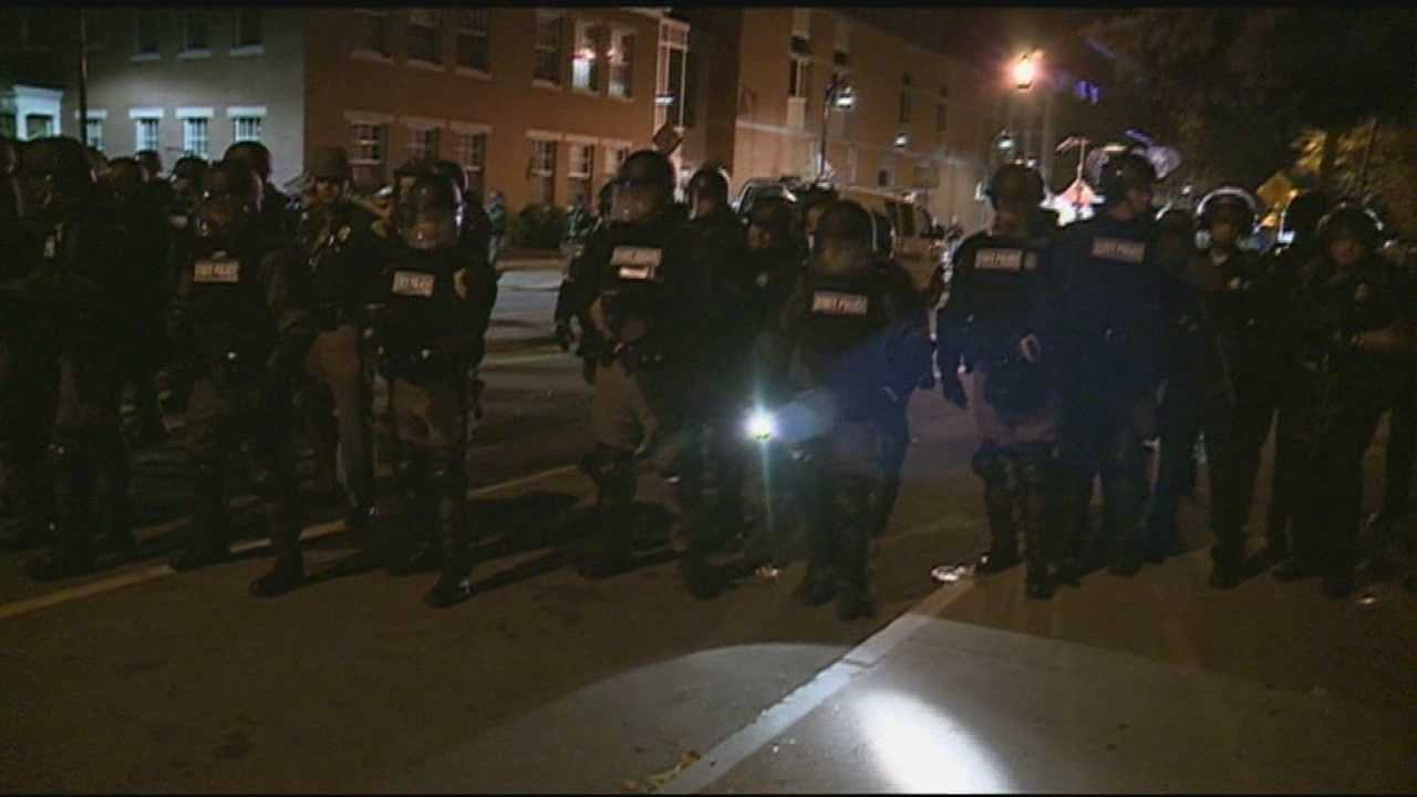 Police in Baltimore said they are determined to find the people involved in Monday's violence and social media could help play a role in catching them. That's just one of the tools the Keene Police Department used last year following a weekend of unrest. WMUR's Shelley Walcott reports.