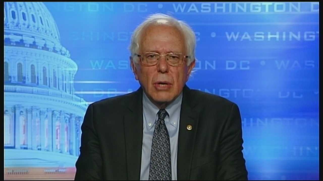 In launching presidential run, Vermont Sen. Bernie Sanders says he's counting on support from a struggling middle class.