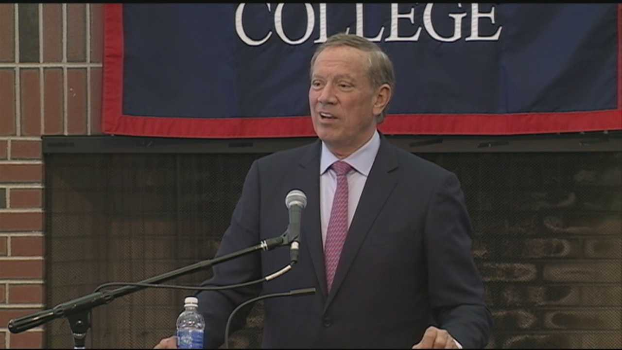 Former New York Gov. George Pataki say he plans to announce whether he will run for president later this month while in New Hampshire.