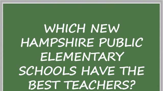 In honor of Teacher Appreciation Week, take a look at which New Hampshire public elementary schools have the best teachers. Niche.com ranked the schools based on things like teacher salaries, teacher attendance, student-to-teacher ratios and surveys from students and alumni. Note: Some schools were not eligible for ranking. Click here to learn more about Niche.com's methodology