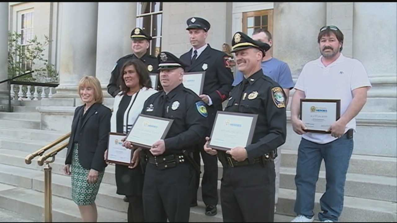 An annual event recognizing New Hampshire heroes was held in front of the State House Wednesday that included recognition for a police officer who died in the line of duty.