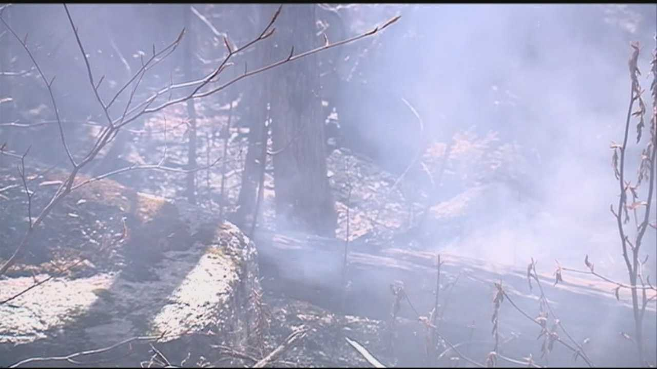 Crews continued Thursday to battle a brush fire in Ossipee that has burned more than 130 acres.