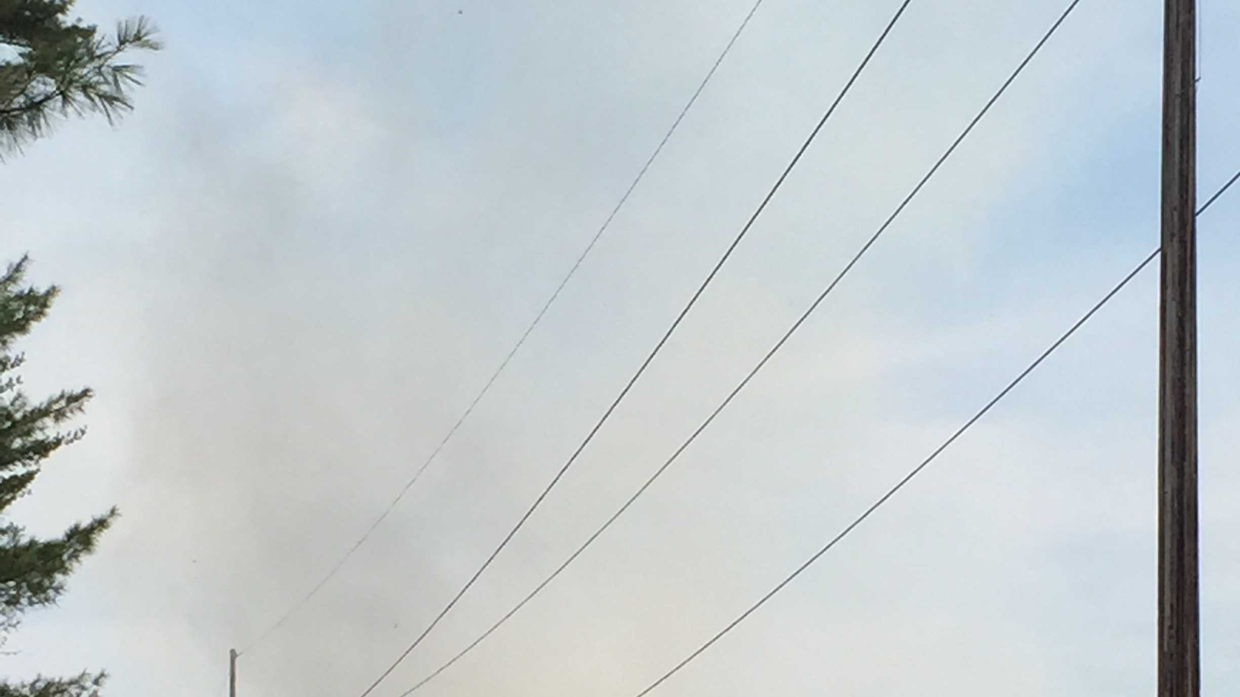A brush fire broke out in Canterbury, New Hampshire, Saturday.