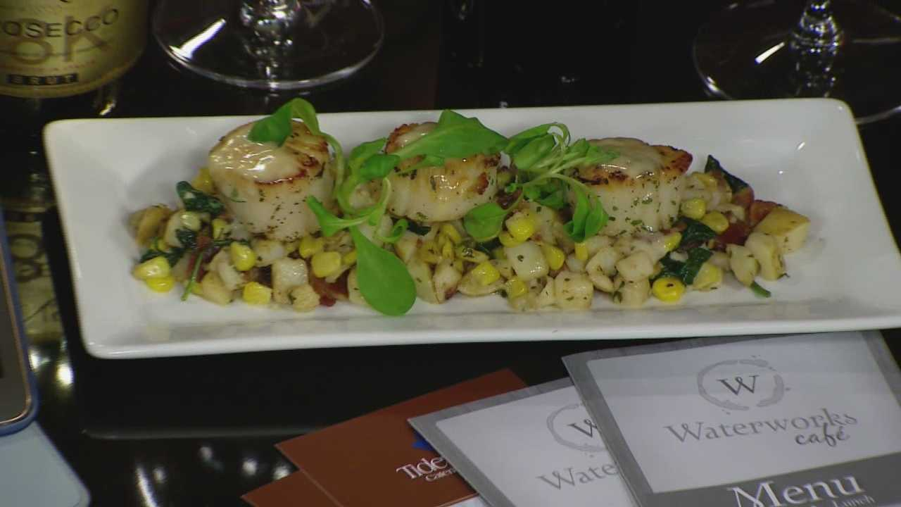 Johnny Wallace of Bayona Cafe shows how to make seared scallops with a white wine butter sauce.
