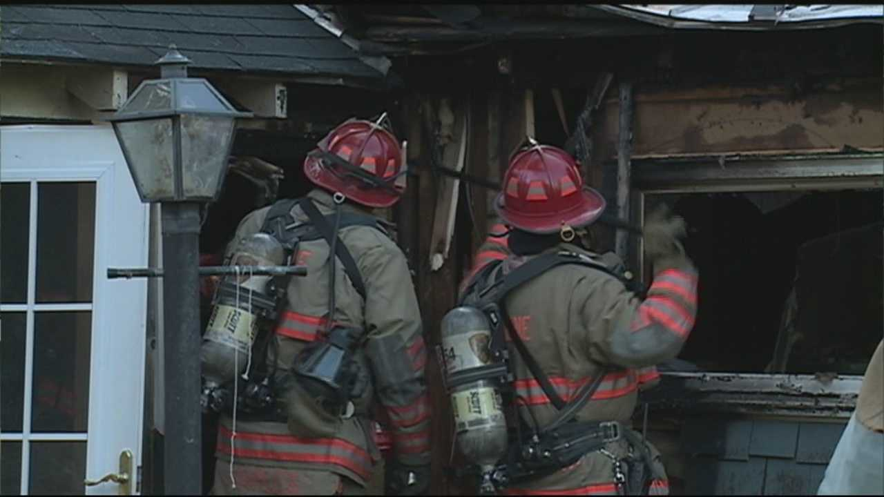 A fire caused tens of thousands of dollars in damage to a house on Elm Street in Keene, New Hampshire, Sunday.