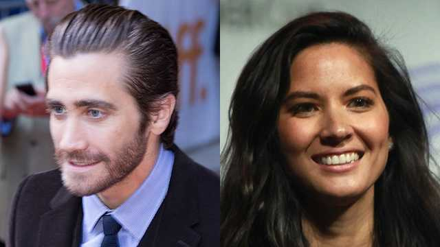 1) Jacob and OliviaPictured: Jacob (Jake) Gyllenhaal and Olivia Munn