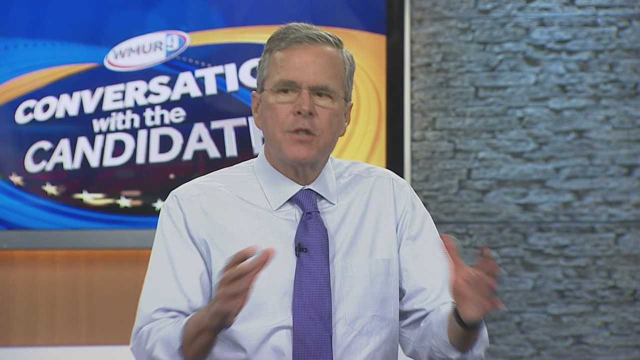 Potential Republican presidential candidate Jeb Bush joins Josh McElveen for the Conversation with the Candidate series (Part 2)