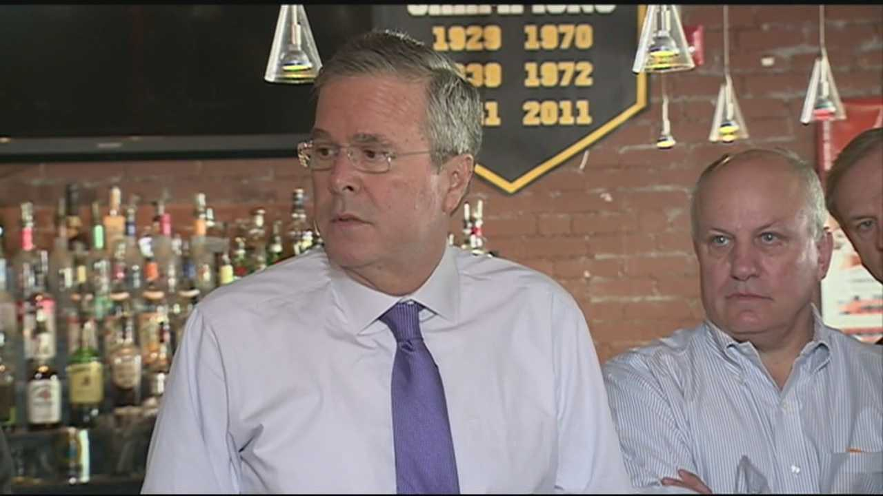 Potential presidential candidate Jeb Bush is wrapping up his two-day trip to New Hampshire.