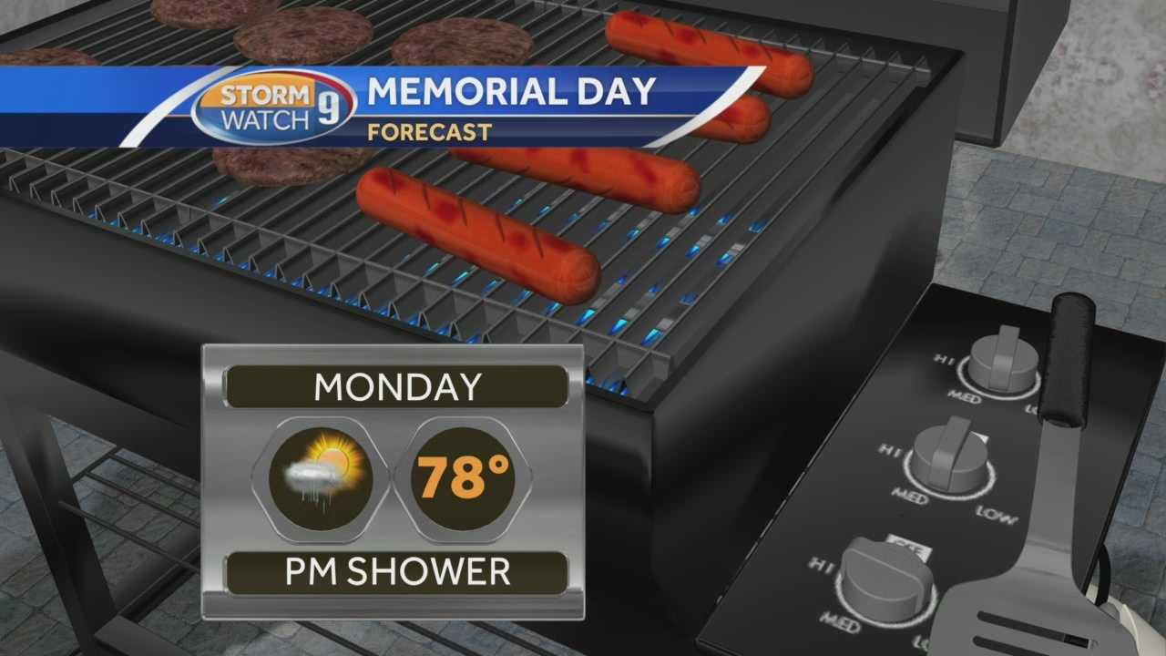 Josh Judge has the full forecast for Memorial Day weekend.