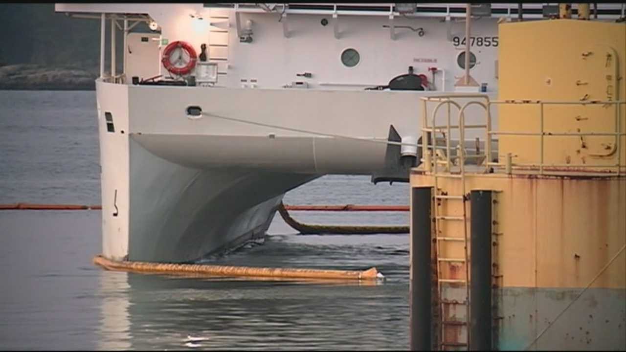 The Coast Guard responded to an oil spill in the Piscataqua River on Tuesday. WMUR's Adam Sexton has more from New Castle.