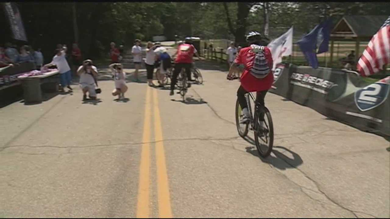 Hundreds of cyclists turned out for the inaugural Honor Ride New Hampshire in Nashua Saturday to support the nation's veterans.