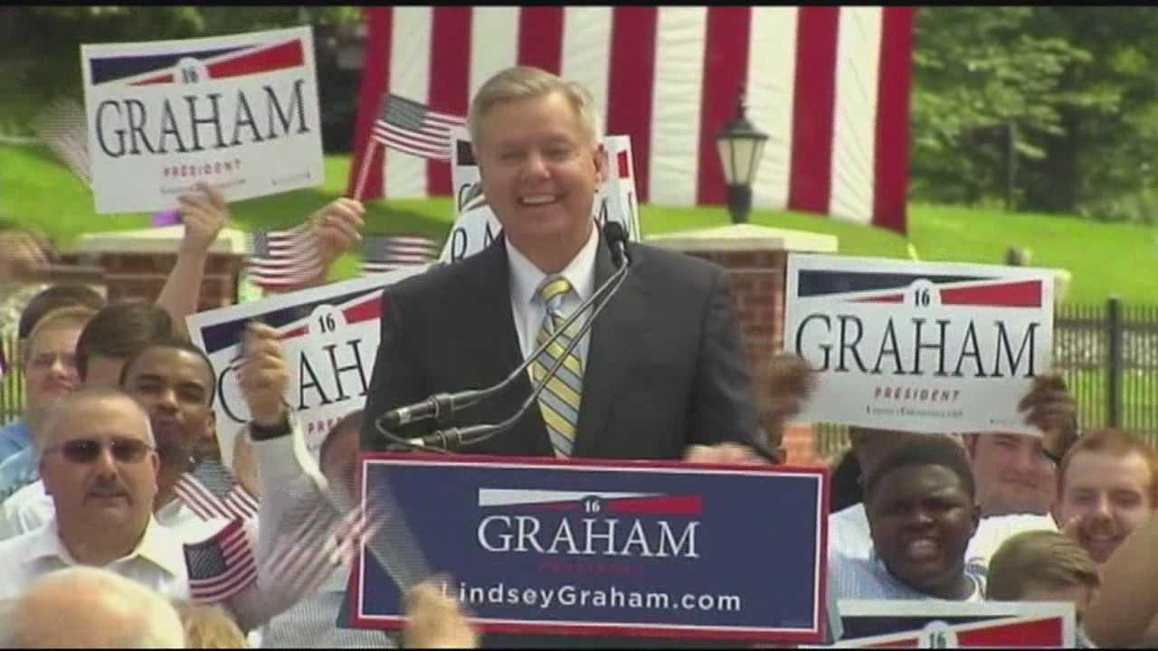 U.S. Sen Lindsay Graham officially joined the presidential race Monday, becoming the latest in a crowded field of candidates headed to New Hampshire.