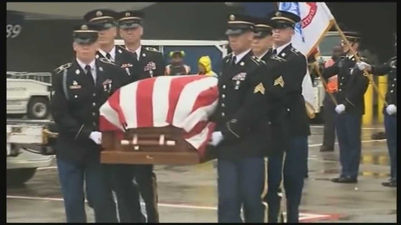 An Exeter soldier's remains were returned to New Hampshire on Monday, 65 years after he was taken prisoner during the Korean War.