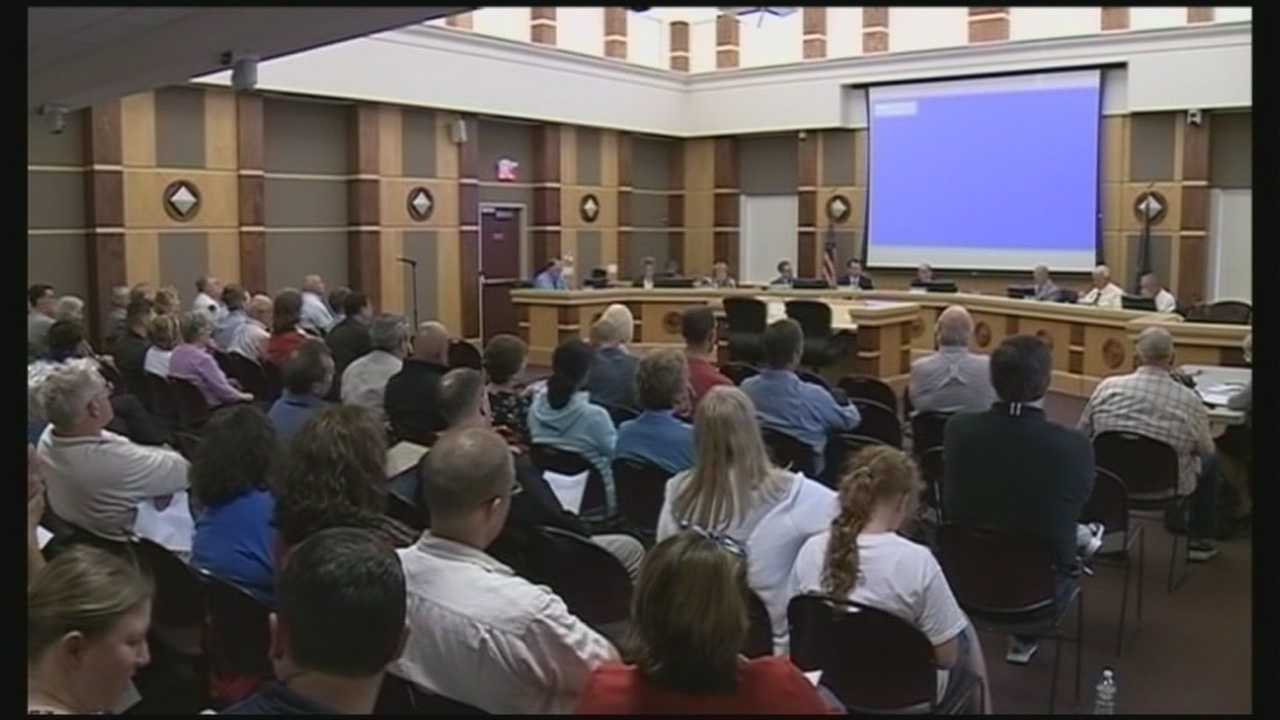 The public had a chance to address town councilors in Derry Tuesday night regarding cuts to the town budget for 2016.