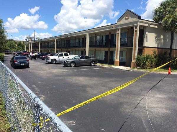 Matthew Dion was taken into custody at this motel in Orange Park, Florida.