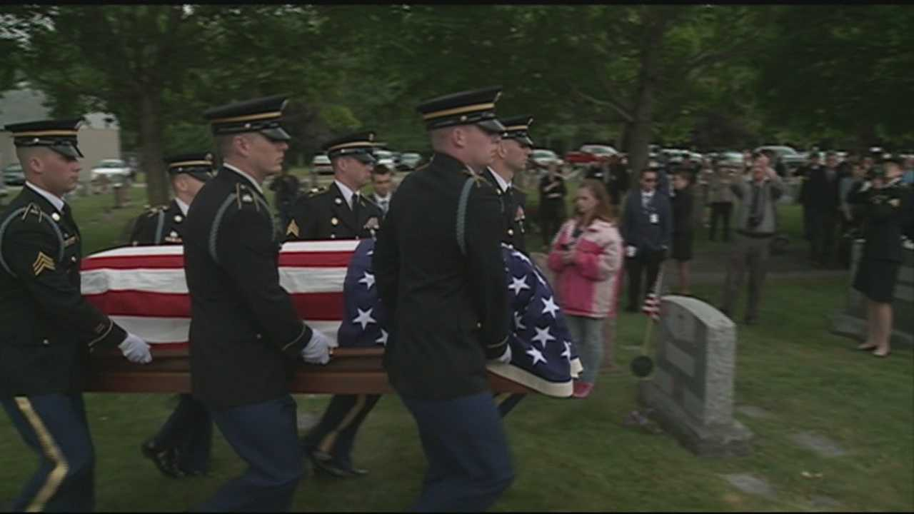 The remains of a New Hampshire soldier were laid to rest Wednesday in Exeter, 65 years after he died in a prison camp during the Korean War.