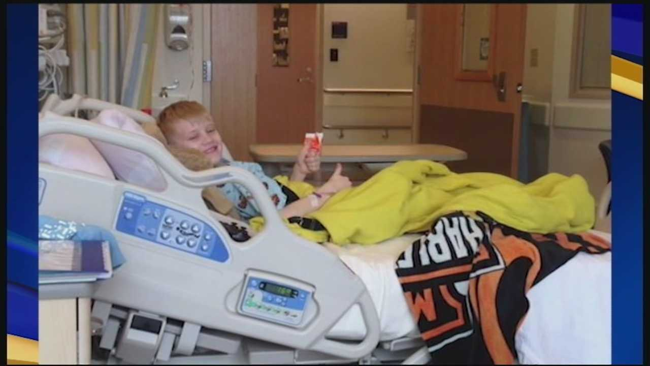 A boy named Levi from Rollinsford is getting some big attention from sports stars and celebrities. WMUR's Jean Mackin reports.