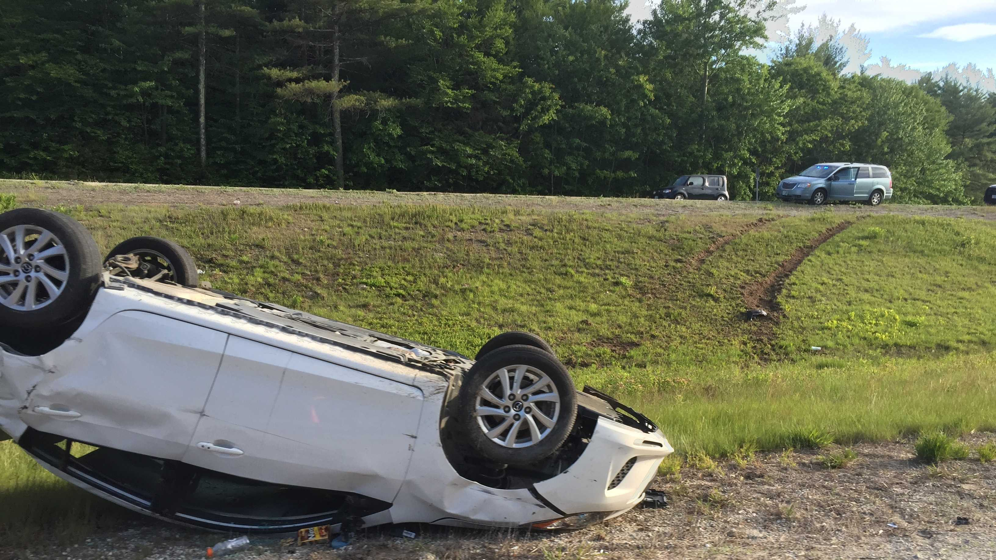 A rollover crash in Candia, New Hampshire, left one woman dead Sunday night.