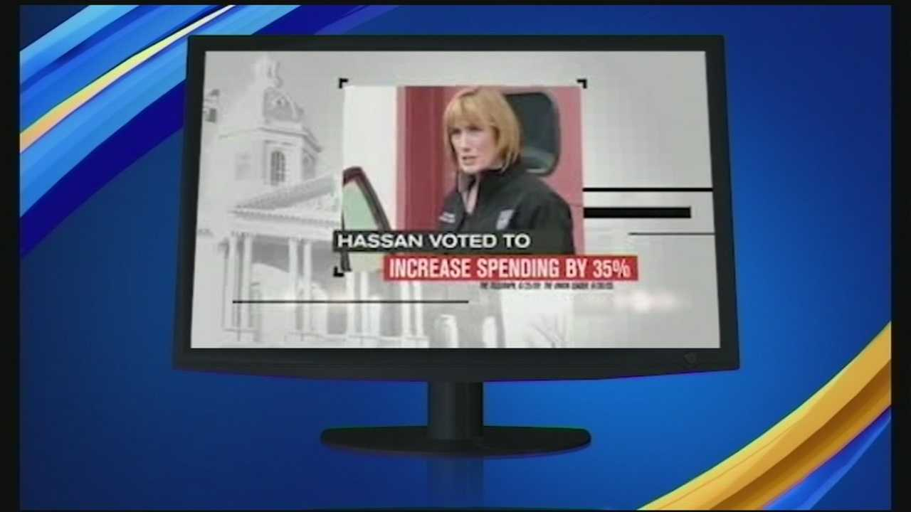 It may be a year-and-a-half before her next election, but Gov. Maggie Hassan is already being targeted by a new ad hitting the airwaves.