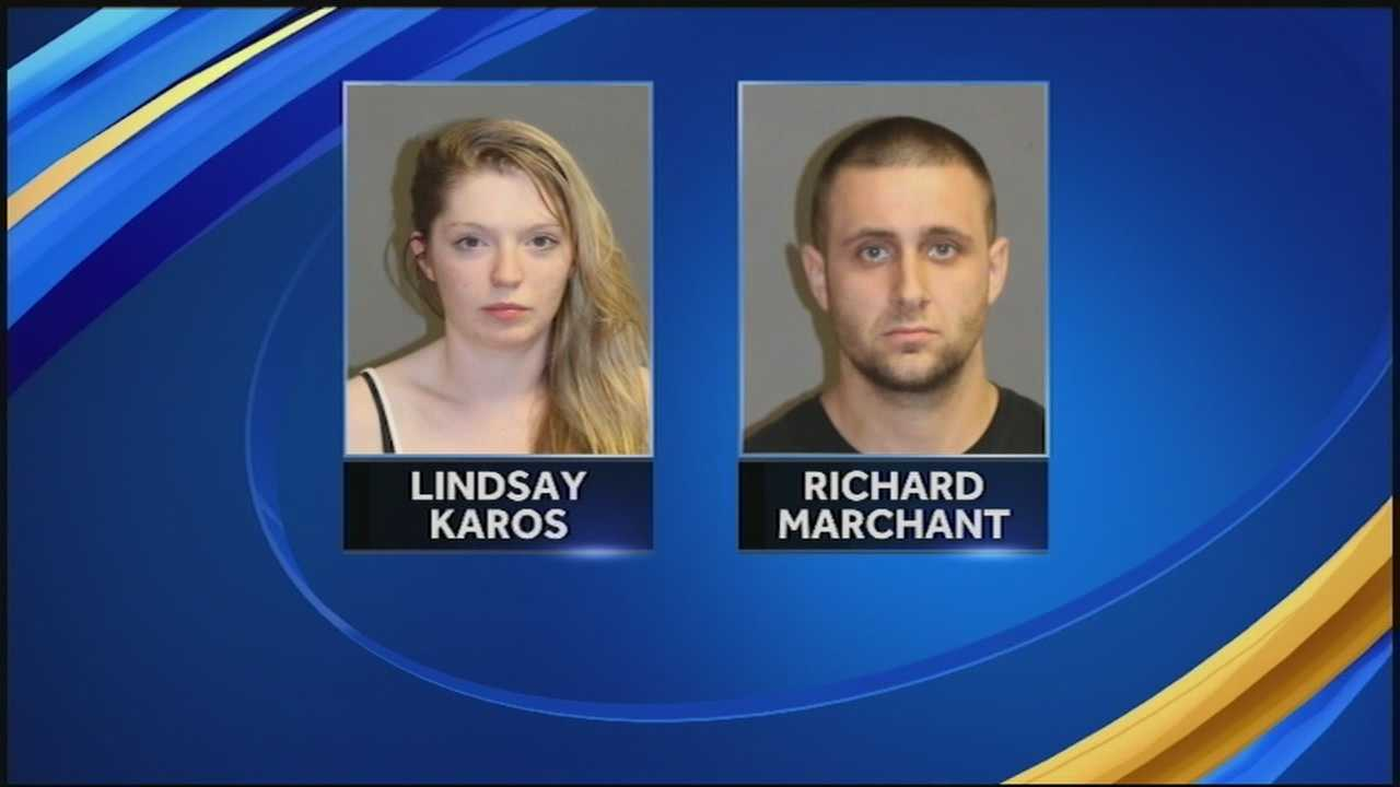 A couple has been accused of selling drugs out of a Merrimack hotel with their toddler in the room.