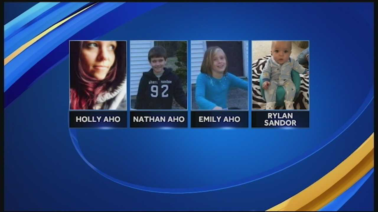 A woman and her three children reported missing from Rindge were found Friday in New York State.