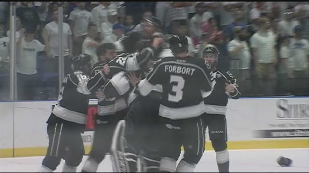 The Manchester Monarchs beat the Utica Comets in five games to win the Calder Cup.