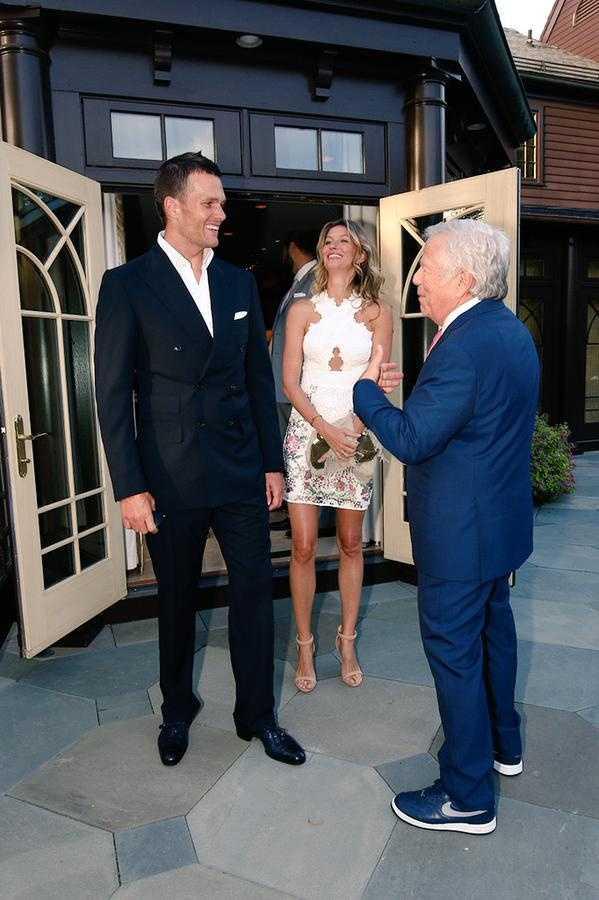 Tom Brady and his wife, Gisele.