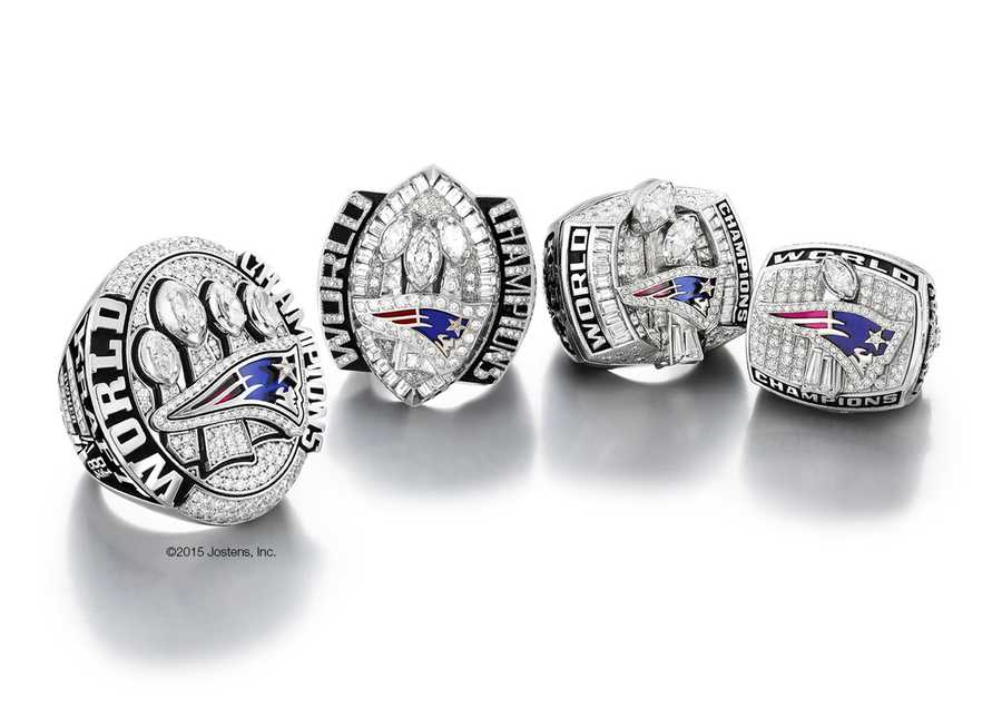 The rings, handcrafted by Jostens, are once again cast in white gold.