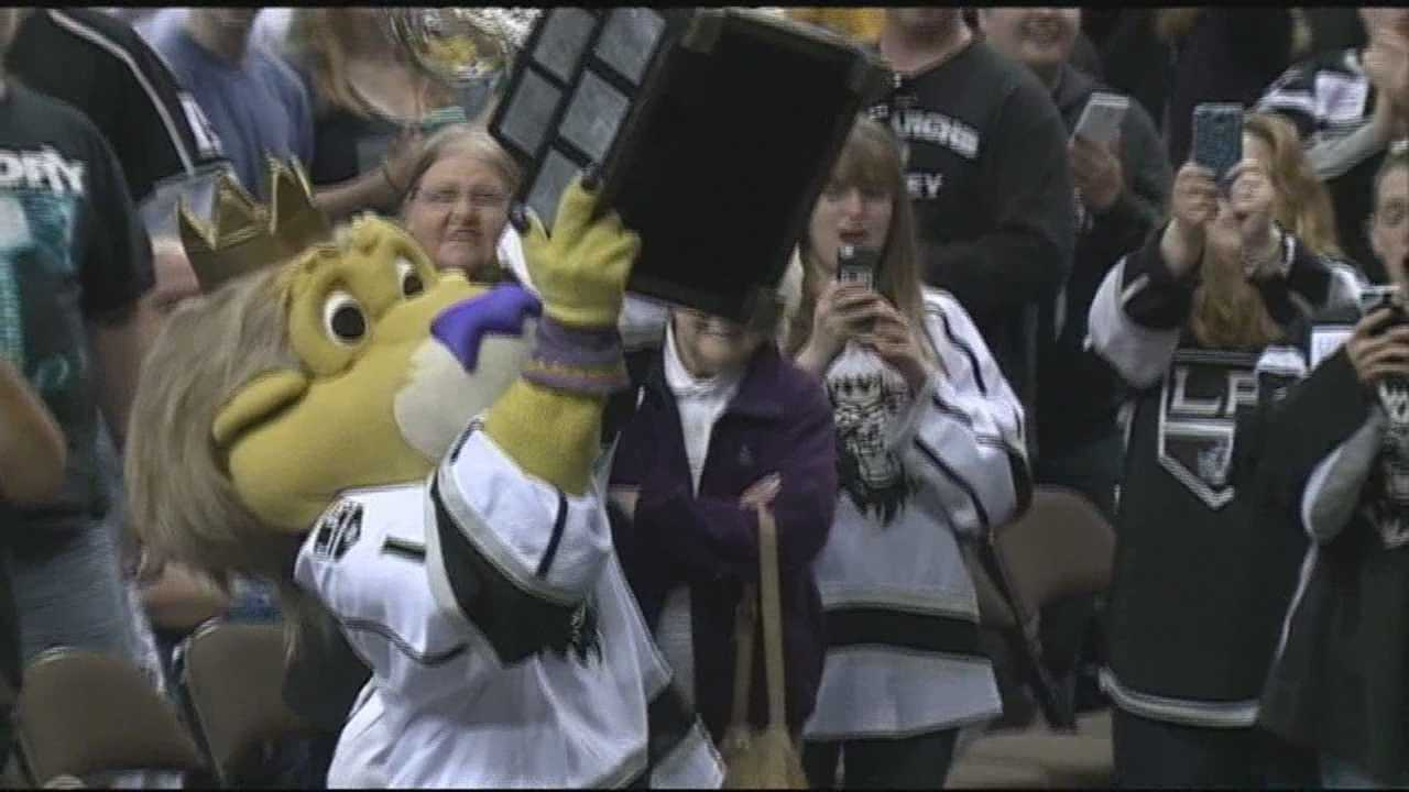 The Manchester Monarchs held a rally celebrating their first Calder Cup win Tuesday -- during their last season in the Queen City.
