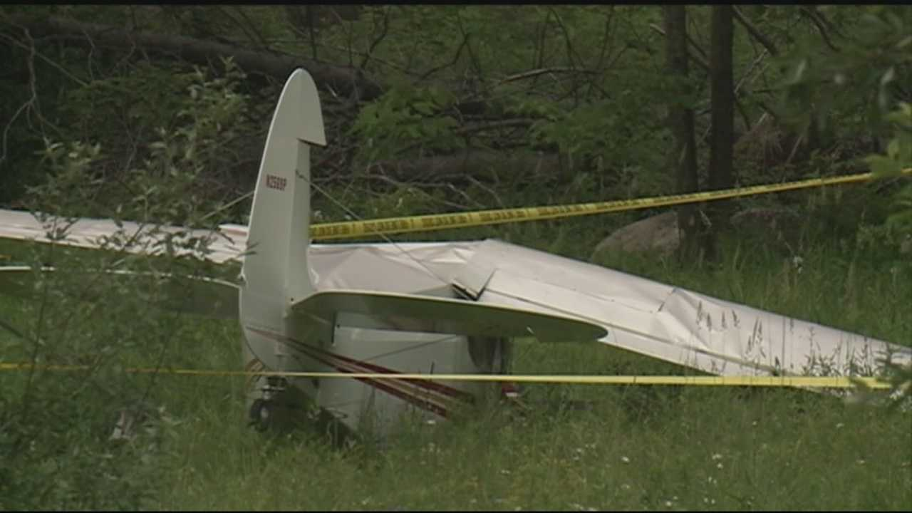 A pilot was injured Thursday when his small plane crashed in Laconia.