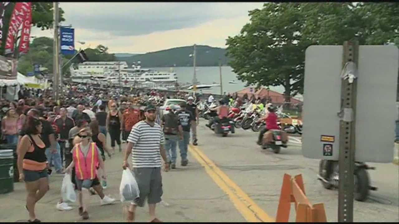 The final Saturday of Motorcycle Week in Laconia.