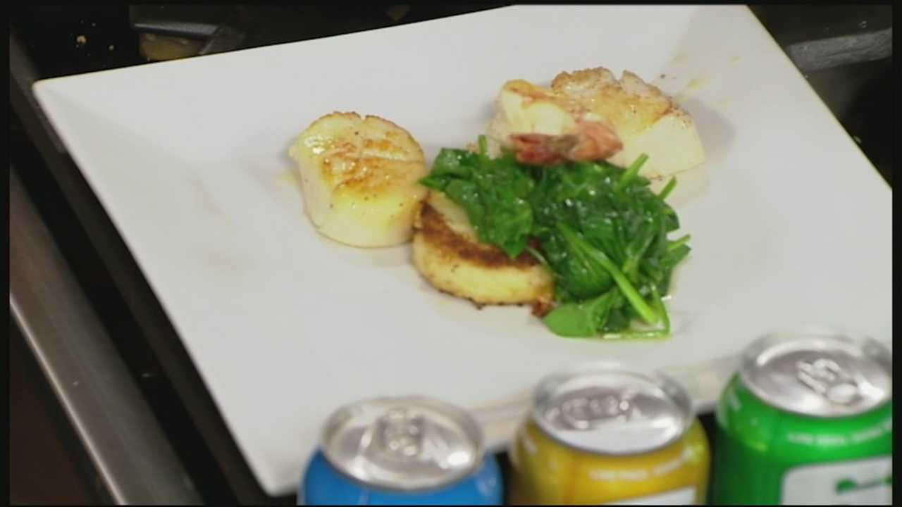 Kevin Halligan of Local Eatery in Laconia, joined by members of the 603 Brewery, show how to make drunken scallops.