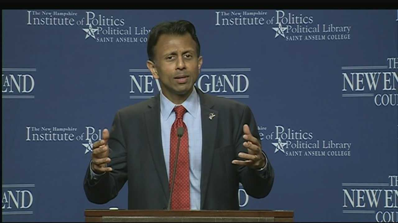 Presidential candidate Bobby Jindal spoke at the Politics and Eggs event on Thursday.