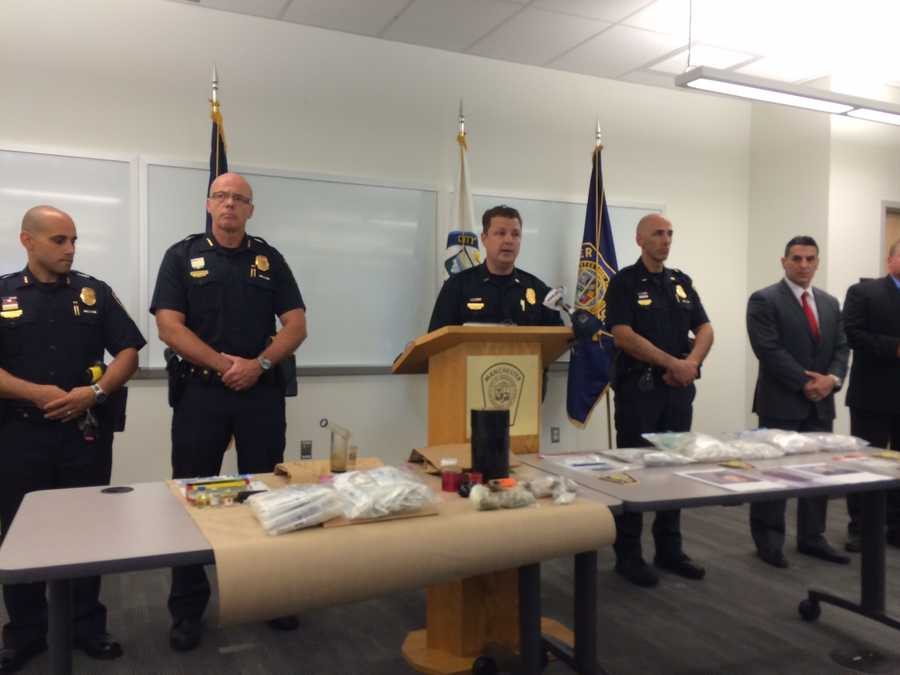 At a press conference on Monday, June 29, police displayed the drugs taken off the streets during the investigation.