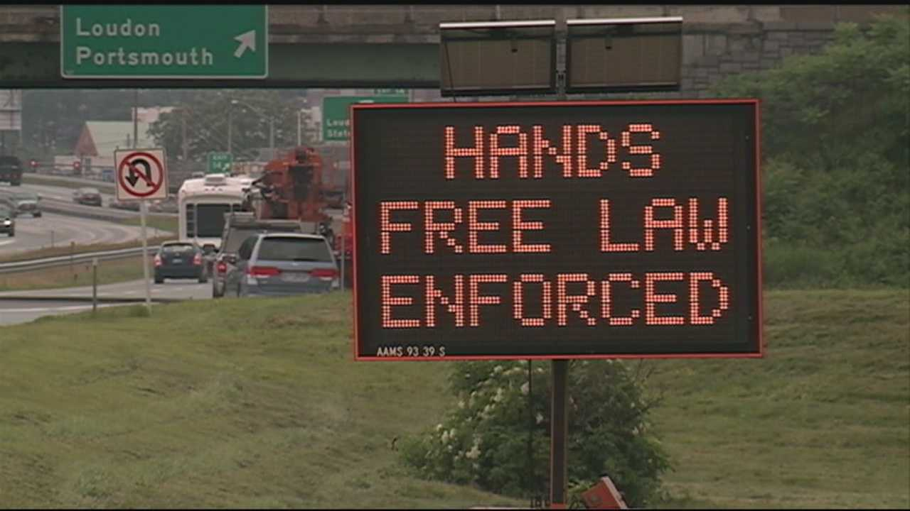 Drivers in New Hampshire must now put their phones down in the car after a new law took effect Wednesday.