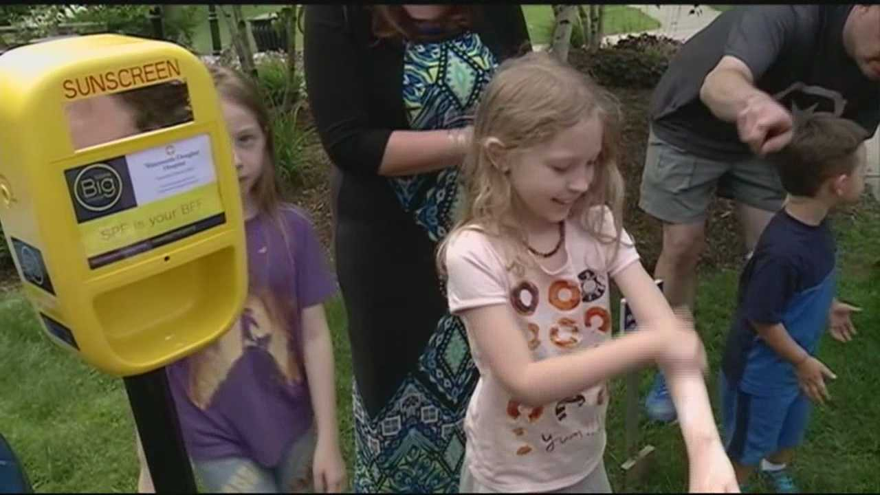 If you're heading to the beach or park this weekend, there's a chance you might find new dispensers offering free sunscreen.