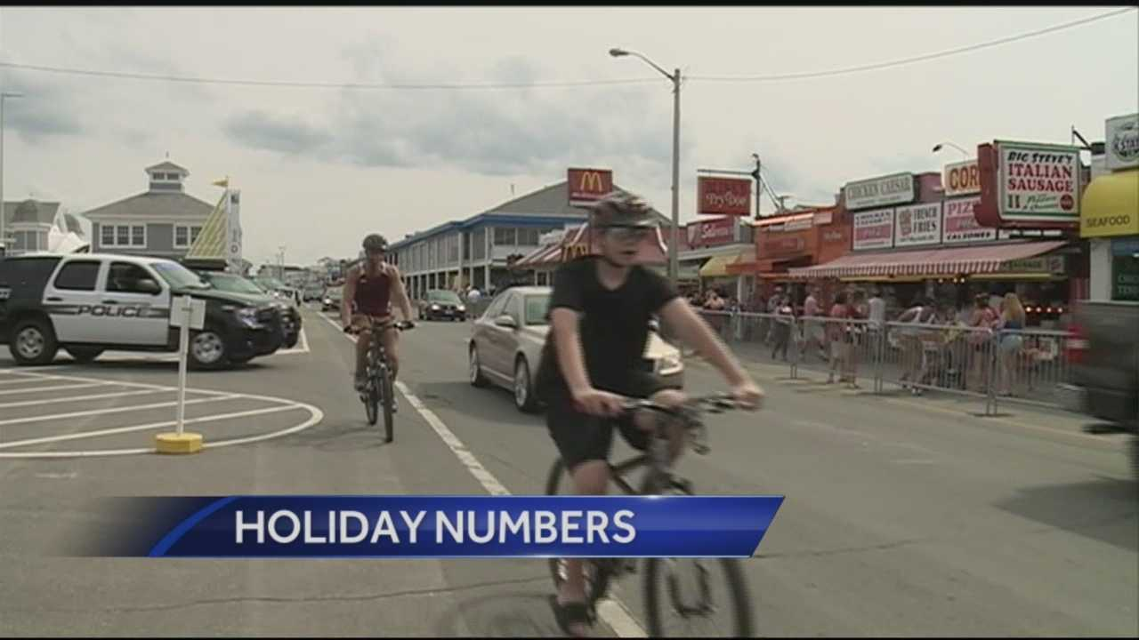 The state estimates about a high amount of out-of-state visitors over the July 4th weekend.