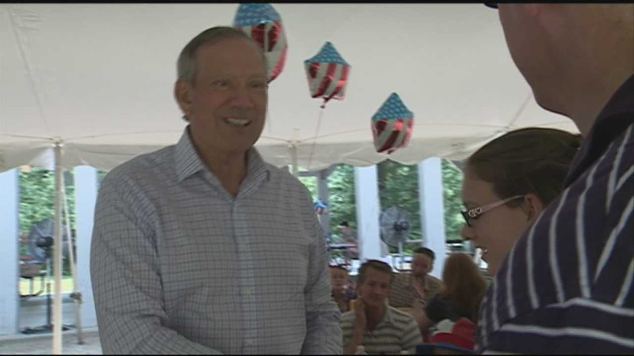 Pataki and Jindal addressed recent comments made by Republican challenger Donald Trump at picnic in Allenstown.