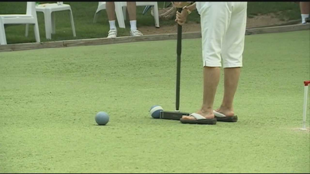 There was some tournament action on the Seacoast on Wednesday as clubs from New Hampshire and Vermont competed for croquet bragging rights.