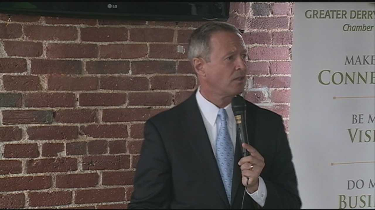 Democratic candidate Martin O'Malley used a stop at St. Anselm's College on Wednesday to unveil his education plan.
