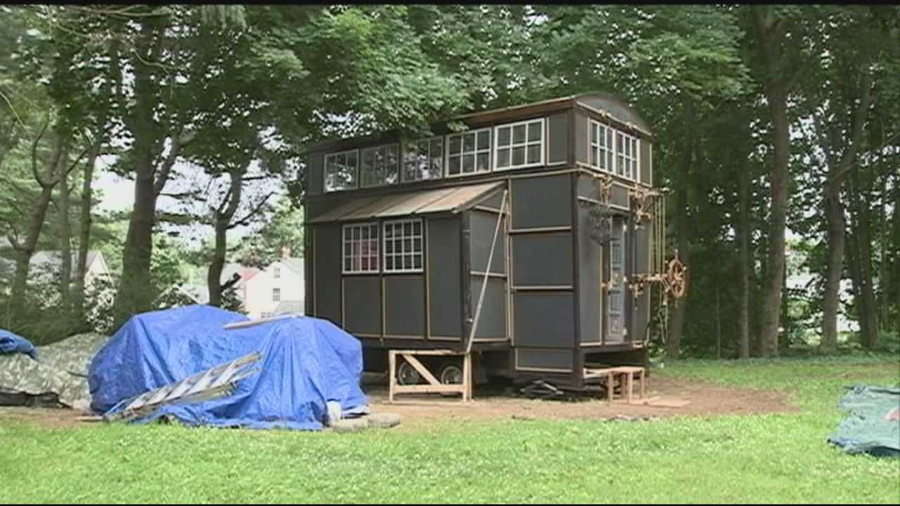 Tiny homes are becoming increasingly popular as cost-effective and creative places to live, and one has been built in a back yard in Hampton.