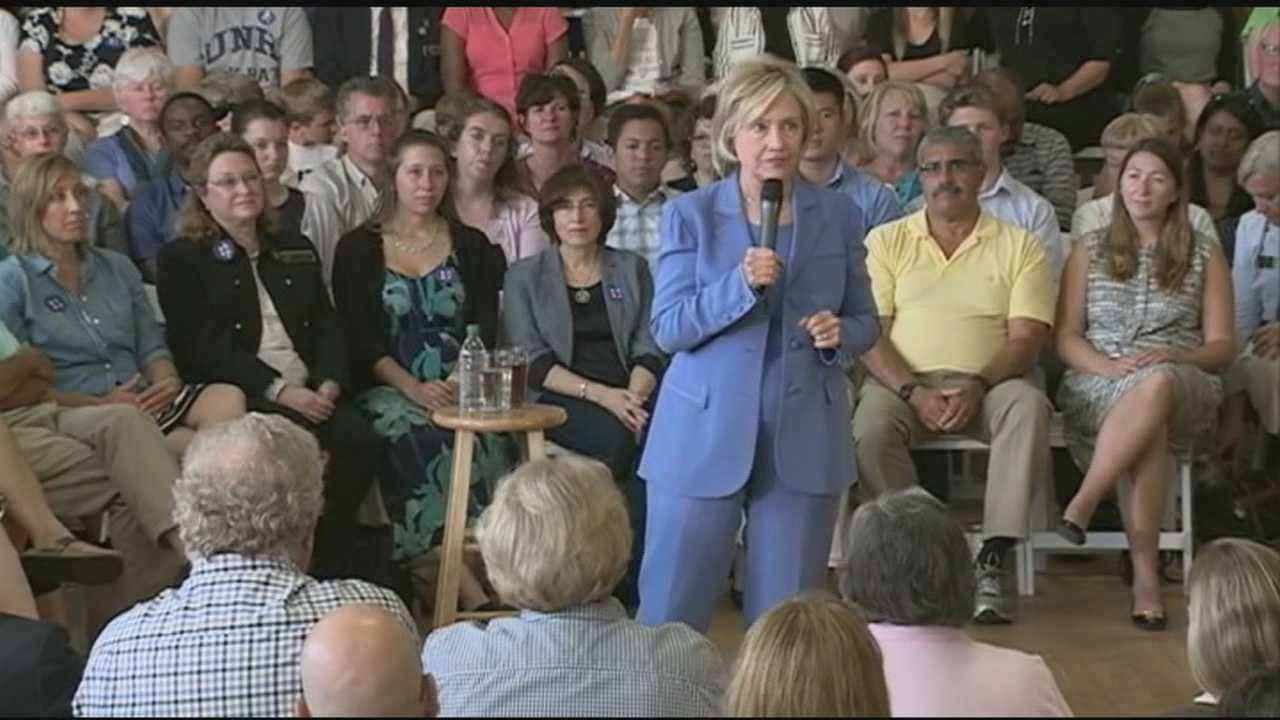 Democratic presidential candidate Hillary Clinton held the first New Hampshire town hall meeting of her campaign Thursday at a packed Dover City Hall.