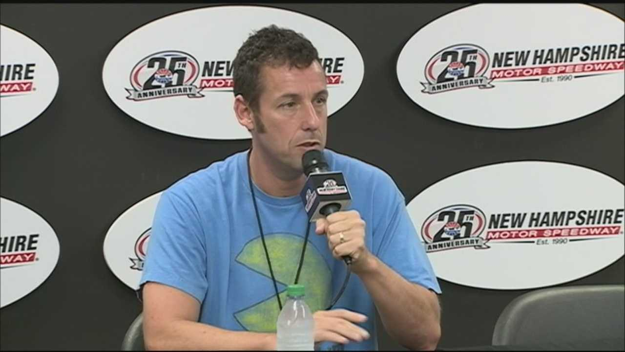 Adam Sandler served as the Grand Marshal for the 5-Hour Energy 301 at New Hampshire Motor Speedway Sunday.