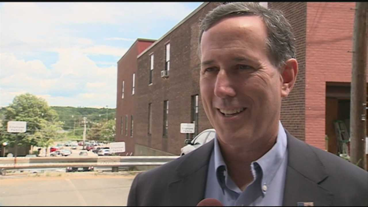 Republican presidential candidate Rick Santorum made some campaign stops Friday in New Hampshire, but he said he may be more focused on winning Iowa.